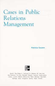 Cover of: Cases in public relations management | Patricia Swann