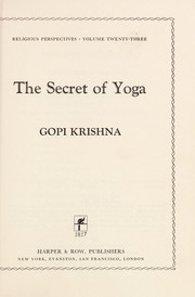 Cover of: The secret of yoga