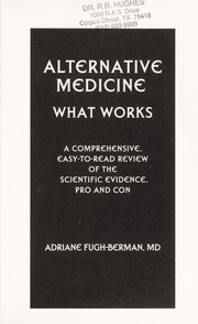 Cover of: Alternative medicine |