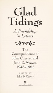 Cover of: Glad Tidings: A Friendship in Letters