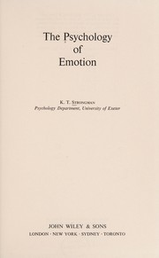 The psychology of emotion
