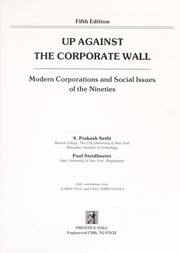 Cover of: Up against the corporate wall | S. Prakash Sethi