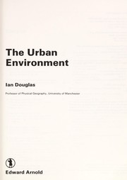 Cover of: The urban environment