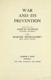 Cover of: War and its prevention