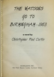 Cover of: The Watsons go to Birmingham--1963