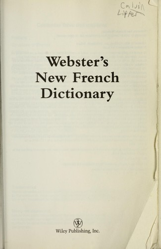 Webster's new French dictionary by