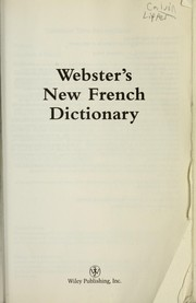 Cover of: Webster's new French dictionary |