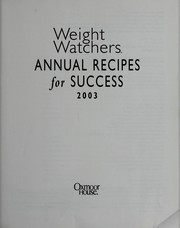 Cover of: Weight Watchers Annual Recipes for Success 2003 | Weight Watchers