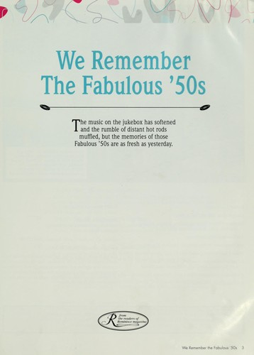 We remember the fabulous '50s by [editor, Lee Aschoff.]