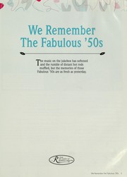Cover of: We remember the fabulous '50s | [editor, Lee Aschoff.]