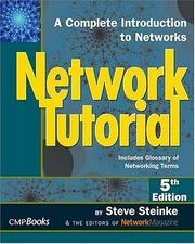 Cover of: Network tutorial | Steve Steinke