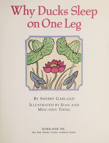 Why ducks sleep on one leg by Sherry Garland