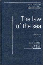 Cover of: The Law of the Sea (3rd Edition) | R. R. Churchill