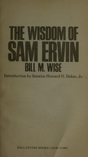 Cover of: Wisdom of SAM Ervin | William Wise