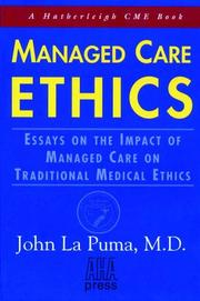 Cover of: Managed Care Ethics |