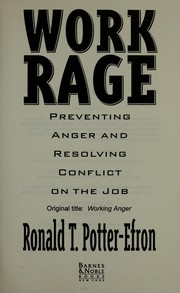 Cover of: Work rage