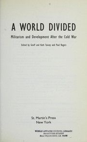 Cover of: A World Divided | Geoff Tansey