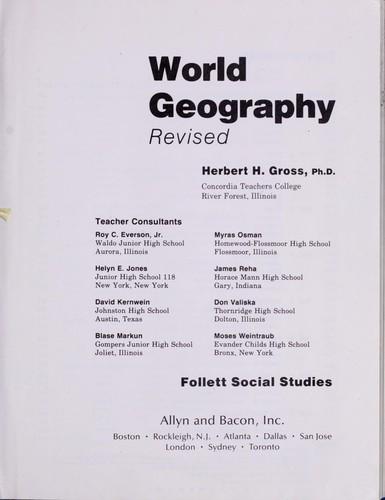 World Geography by