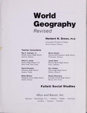 Cover of: World Geography |