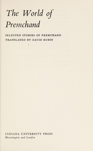 The world of Premchand by Premacanda