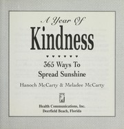 Cover of: A Year of Kindness | Meladee McCarty, Hanoch McCarty