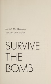 Cover of: You can survive the bomb