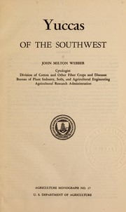 Cover of: Yuccas of the southwest