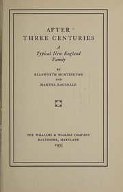 Cover of: After three centuries
