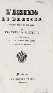 Cover of: L'assedio di Brescia | F. Jannetti