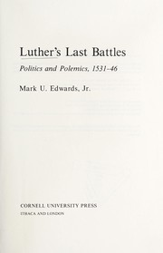 Cover of: Luther