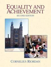 Cover of: Equality and Achievement | Cornelius Riordan