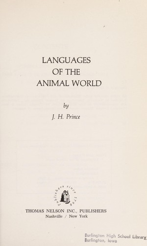 Languages of the animal world by Prince, J. H.
