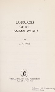 Cover of: Languages of the animal world | Prince, J. H.