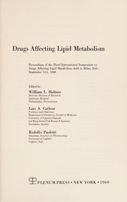 Cover of: Pharmacological Control of Lipid Metabolism | William L Holmes