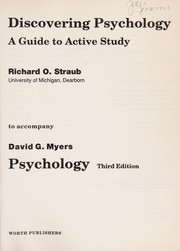 Cover of: Discovering Psychology a Guide to Active Study to Accompany Psychology (3rd)