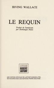 Cover of: Le Requin | Irving Wallace