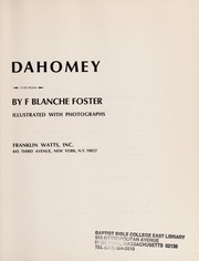 Cover of: Dahomey | F. Blanche Foster