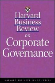 Cover of: Harvard business review on corporate strategy
