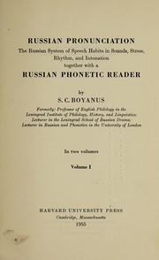 Cover of: Russian pronunciation | Semen Karlovich BoiНЎanus