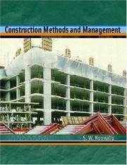 Cover of: Construction Methods and Management