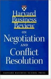 Cover of: Harvard business review on negotiation and conflict resolution. |