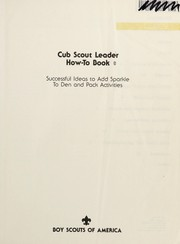 Cover of: Cub Scout leader how-to-book |