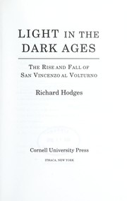 Cover of: Light in the Dark Ages | Richard Hodges
