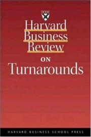 Cover of: Harvard business review on turnarounds by