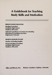 Cover of: A guidebook for teaching study skills and motivation