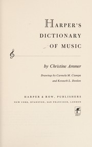 Cover of: Harpers Dictionary of Music