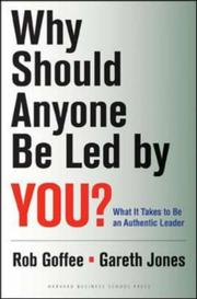 Cover of: Why should anyone be led by you? | Robert Goffee