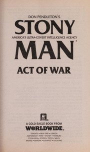 Cover of: Act Of War (Stonyman)