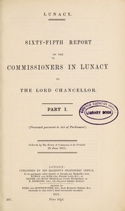 Cover of: Report of the Commissioners in Lunacy to the Lord Chancellor |