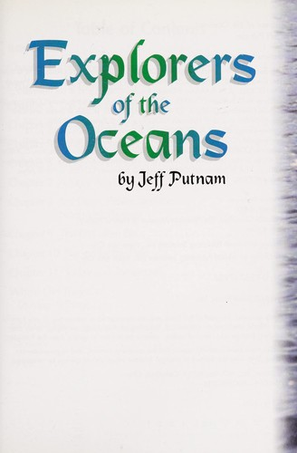 Explorers of the Oceans (Zb Reads Trio Books) by Jeff Putnam